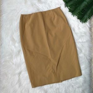 PRADA Italian Made Tan Pencil Skirt
